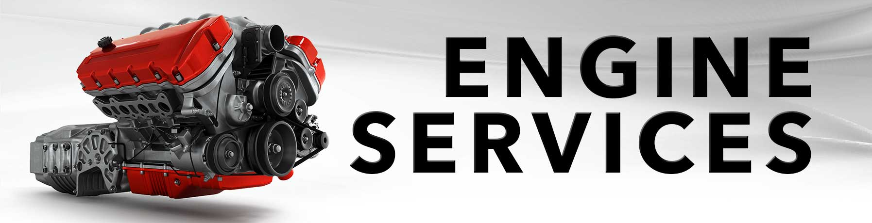 Engine Service banner image with picture of an engine block
