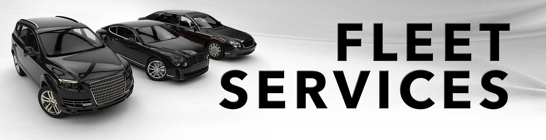 Fleet Service banner image with picture of three fleet vehicles