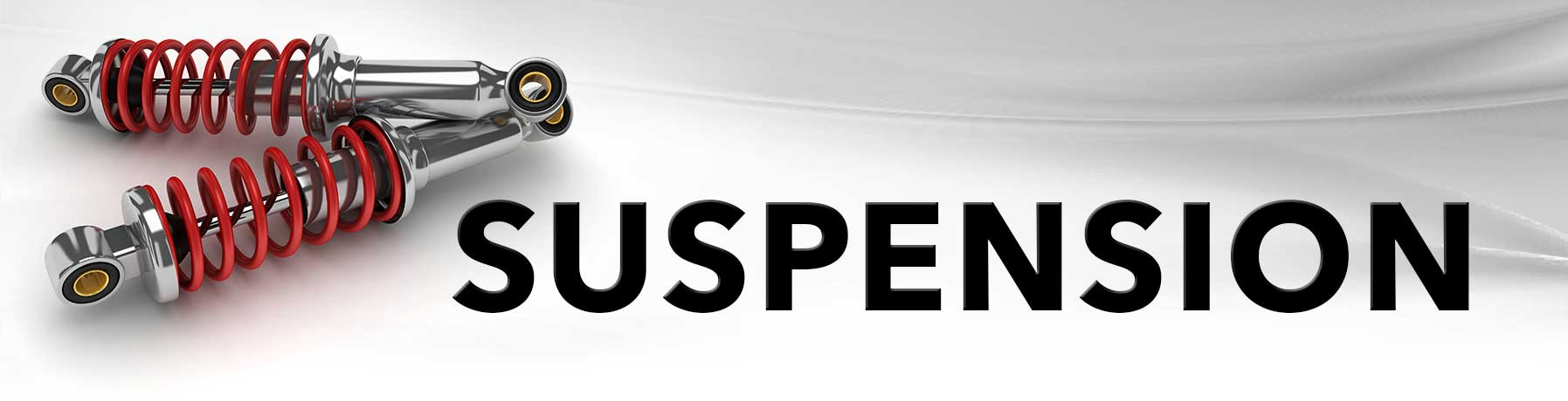 Suspension repair banner image with picture of suspension components