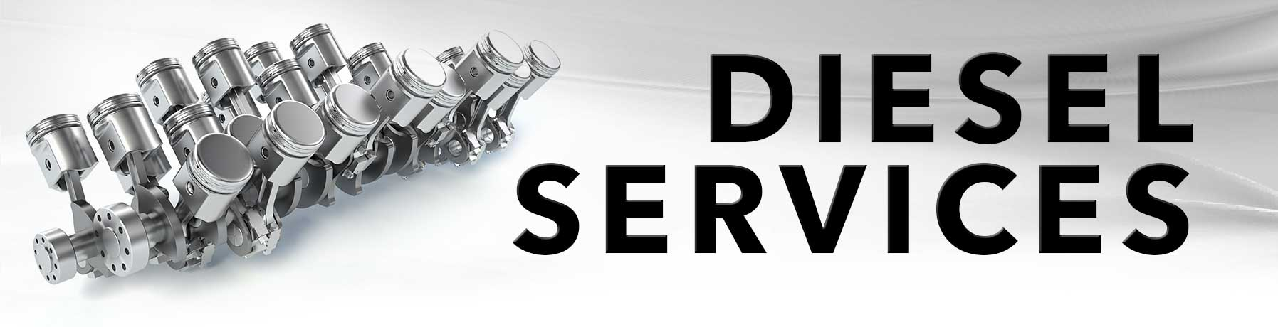 Diesel Service banner image with picture of diesel engine