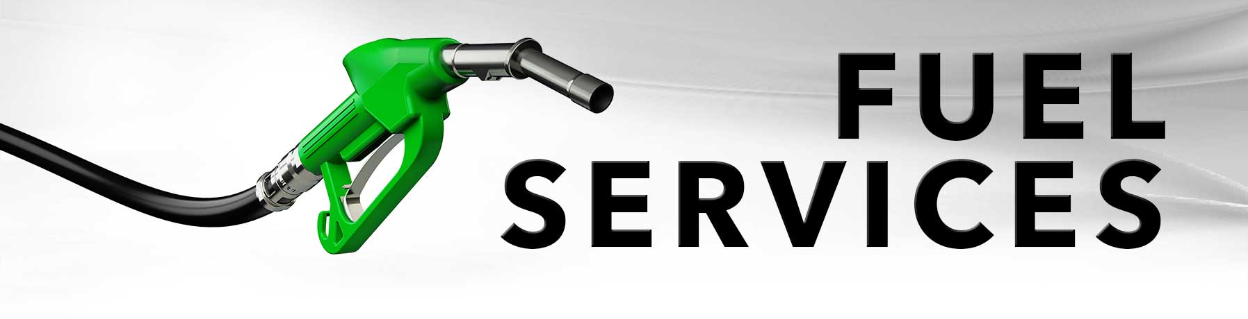 Fuel Service banner image with picture of fuel pump